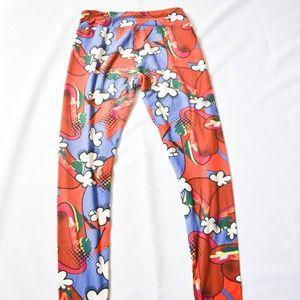 LuLaRoe Pants - LuLaRoe Red/Blue Hot Dog & Popcorn Print Leggings